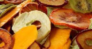 تولید انواع میوه خشک و چیپس میوه