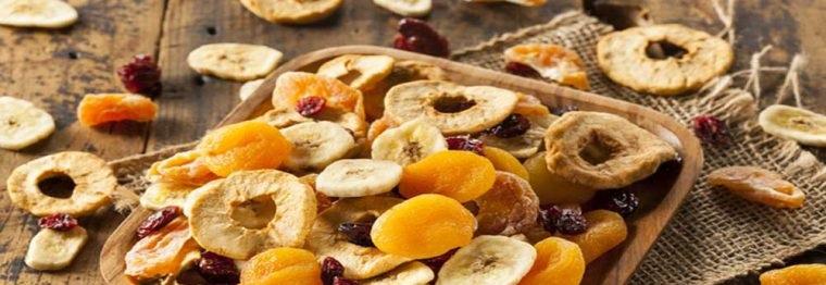 انواع میوه خشک و چیپس میوه